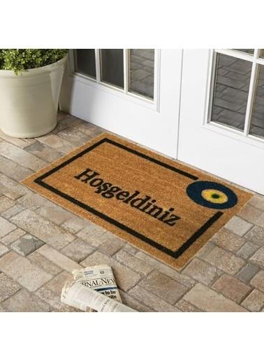 Giz Home 40X70 Hoşgeldiniz Nazar Koko Dış Kapı Önü Paspası Renkli